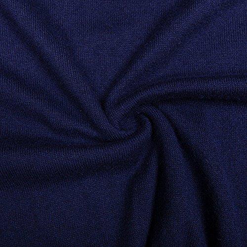 CHAUDER Men's Relax Fit V-Neck Vest Knit Sweater Cashmere Wool Blend Navy Blue, L by CHAUDER (Image #4)