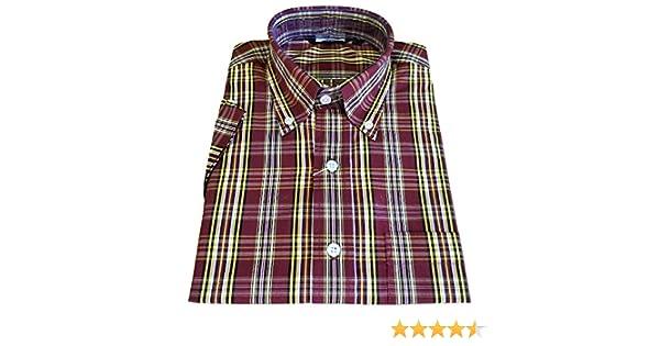 Relco - Camisas - Cuadrados - con Botones - para Mujer Rojo burgungy 48: Amazon.es: Ropa y accesorios