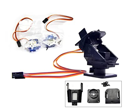 Amazon com: Pan Tilt 2 Axis FPV Camera Gimbal Mount Bracket W/ 2