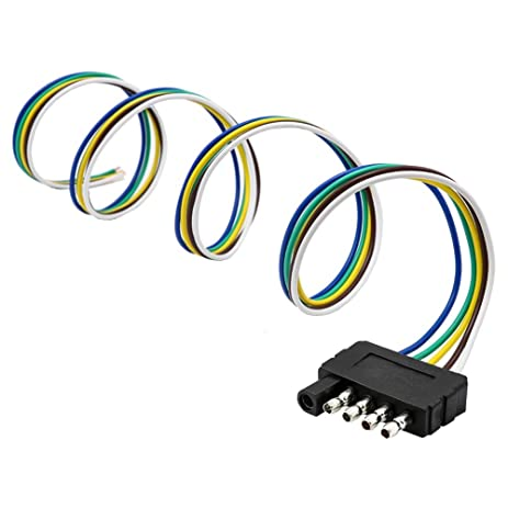 amazon com encell trailer light wiring harness extension 5 pin plug rh amazon com trailer light wiring harness extension Trailer Hitch Lights