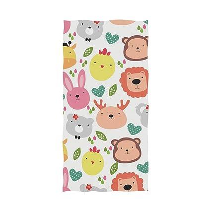 Amazon.com: DEZIRO Love Zoo Luxury Bath Towel Yoga Towel ...