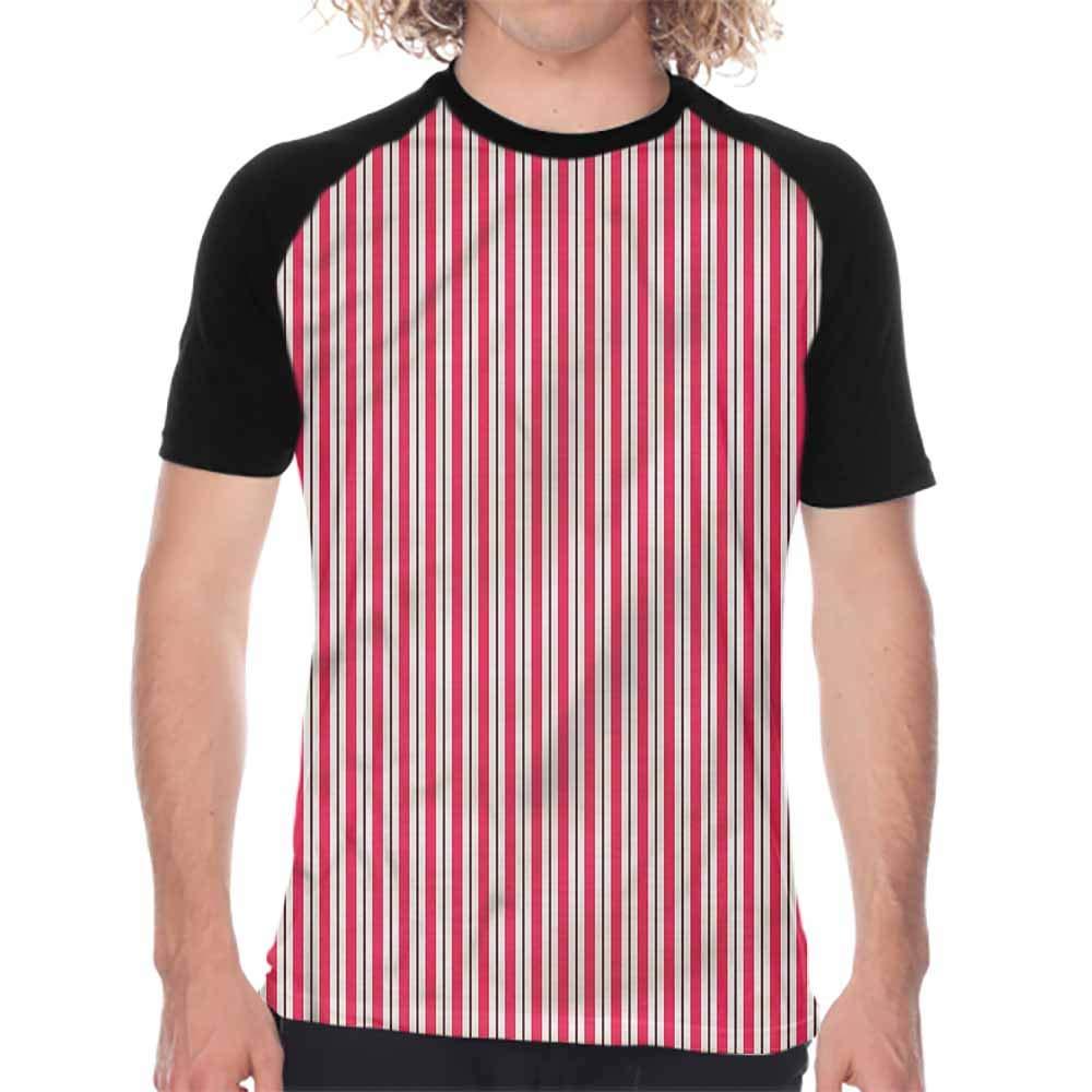 Pink,Men Summer Streetwear Moon Unicorn Castle,Printed Short Sleeve Casual