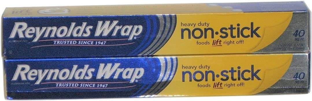 Reynolds Wrap Heavy Duty Non-stick Aluminum Foil 40 Sq. Ft. 2-pack