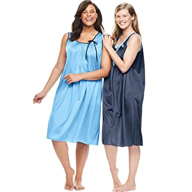 121643f65d Only Necessities Women s Plus Size 2-Pack Sleeveless Nightgown at Amazon  Women s Clothing store