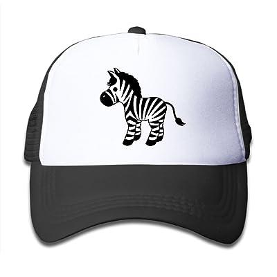 NO4LRM Kid's Boys Girls Cute Cartoon Zebra Youth Mesh Baseball Cap Summer Adjustable Trucker Hat