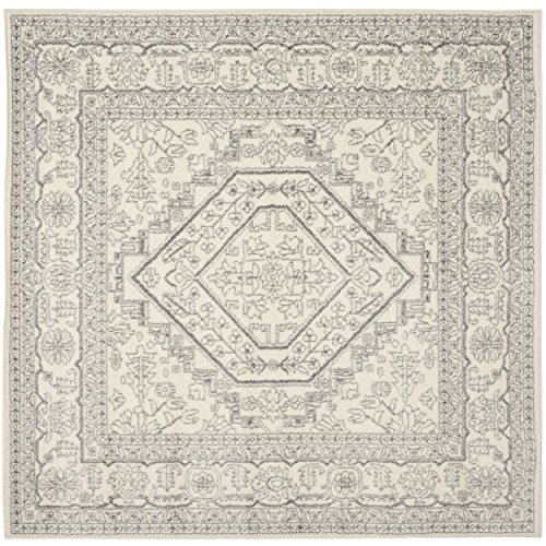 Safavieh Adirondack Collection ADR108B Ivory and Silver Oriental Vintage Square Area Rug (6'7