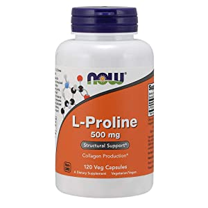 NOW Supplements, L-Proline 500 mg, 120 Veg Capsules
