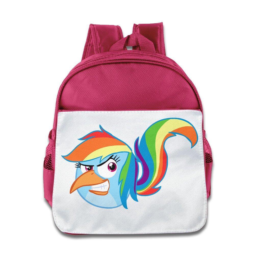 XJBD Custom Cool Horse Pony Bird Kids School Bag Backpack For 1-6 Years Old RoyalBlue