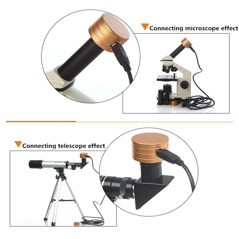 XUBA Astronomical Telescope/Microscope Electronic Eyepiece for Outdoor Sport 0.96 Inch 2 Megapixels Luxury Gold Color by XUBA (Image #3)
