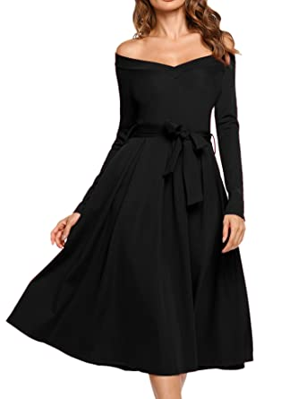Long sleeve midi dress v neck