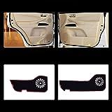 LUVCARPB 4 pcs Fabric Door Protection Mats Anti-kick Decorative Pads,Fit For Lexus LX570 2007-2013