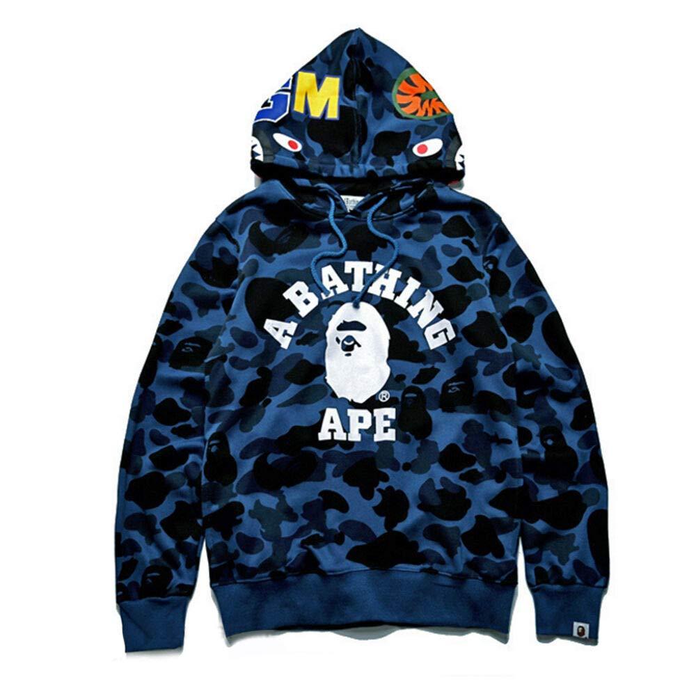 BAPE A Bathing Ape Men Shark Head Sweater Full Zip Camouflage Hoodie Jacket Coat