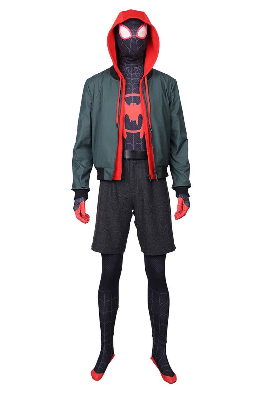 mas barato Equipar rojoJade Miles Morales Spider-Man  Into The Spider-Verse Outfit Outfit Outfit Traje de Cosplay L  primera reputación de los clientes primero