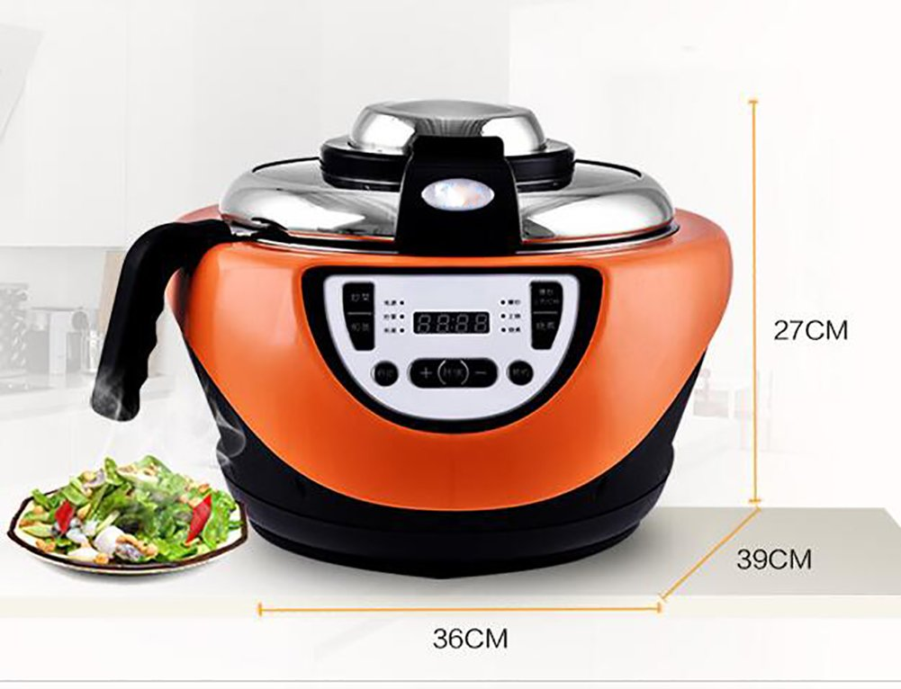 Electric Cooking Pot Intelligent Wok Robot Automatic Stirring,Smokeless, Zero Radiation