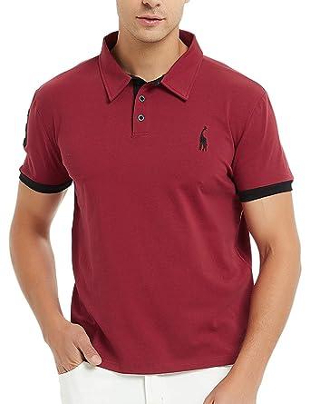 new style 73fbf 1a771 GLESTORE Herren Poloshirt Einfarbig Basic Kurzarm Polohemd M - XXL