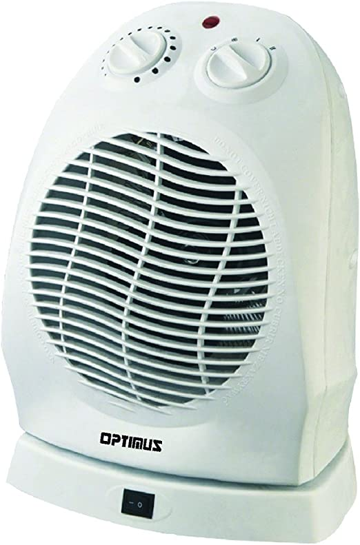 NEW OPTIMUS H-1382 PORTABLE OSCILLATING FAN HEATER WITH THERMOSTAT (ELECTRONICS-OTHER)