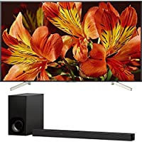 """Sony Bravia XBR85X850F 85"""" 4K HDR10 HLG Triluminos Android LCD TV with Google Assistant 3840x2160 + Sony HTZ9F 3.1Ch Dolby Atmos Soundbar with Built-in WiFi & Bluetooth"""
