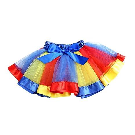 FENICAL Falda de Tutú de Color Arcoiris para Niñas Falda de Tutú ...
