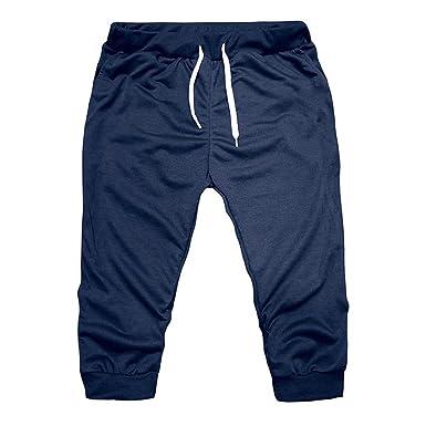 Shorts Herren Sommer LHWY Fashion Männer Gym Workout Große Sporthose Jogging  Kurz Hosen Slim Fit Elastische 0a827772c6