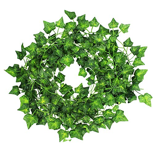 JPSOR 24 Pack (79 inch Each) Fake Ivy Artificial Ivy Leaves Greenery Garlands Hanging for Wedding Party Garden Wall Decoration by JPSOR (Image #3)