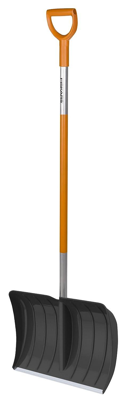 Fiskars Pala da neve per piccole quantità di neve, Larghezza della lama: 35 cm, Lama in plastica/Manico in alluminio, Nero/Arancione, SnowXpert, 1003468