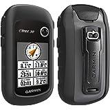 TUSITA Funda con Protector de Pantalla para Garmin eTrex 10 20 20X 30 30X - Funda Protectora de Silicona Skin - Accesorios de Mano GPS Navigator (Negro)