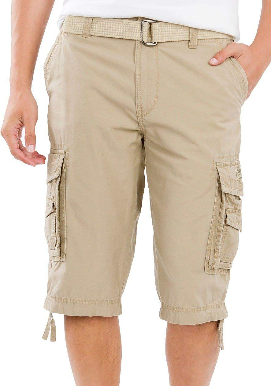 Unionbay Men's Cordova Belted Messenger Cargo Short - Reg and Big and Tall Sizes, grain, 44