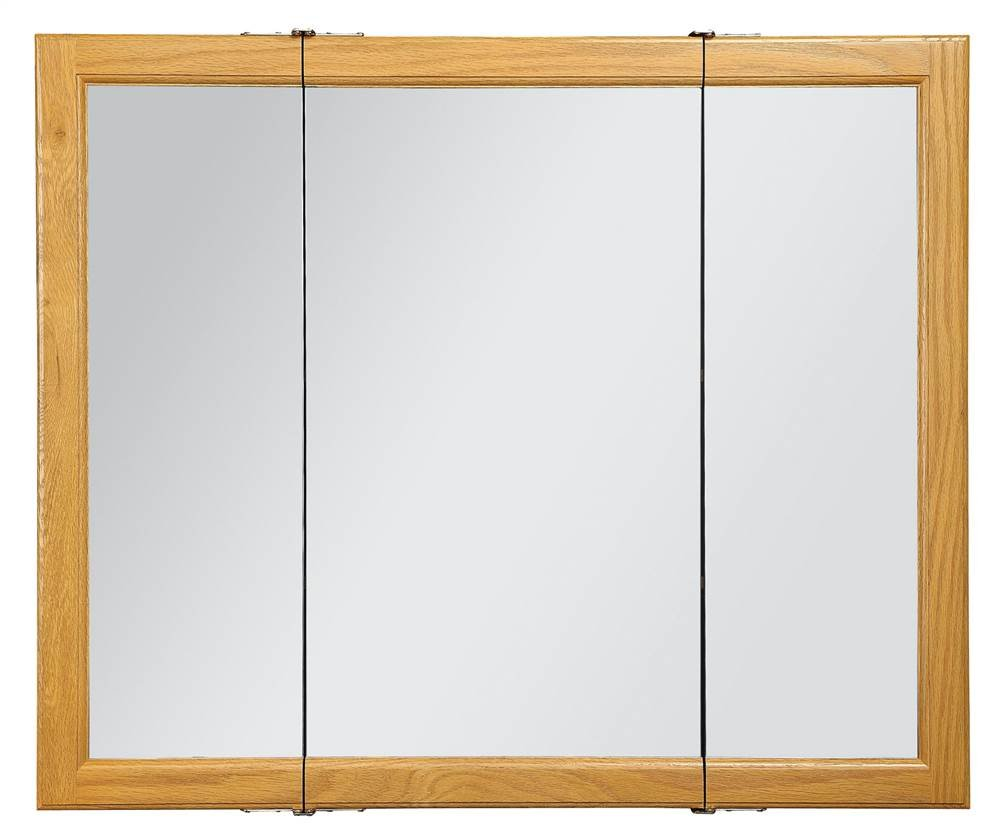Design House 545285 Claremont Honey Oak Tri View Medicine Cabinet Mirror  With 3 Doors, 36 Inches By 30 Inches   Hand Tool Sets   Amazon.com