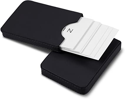 Lucrin Visitenkartenh/ülle Sliding Case for Business Cards Schwarz PM1024/_VCLS/_NRR Black