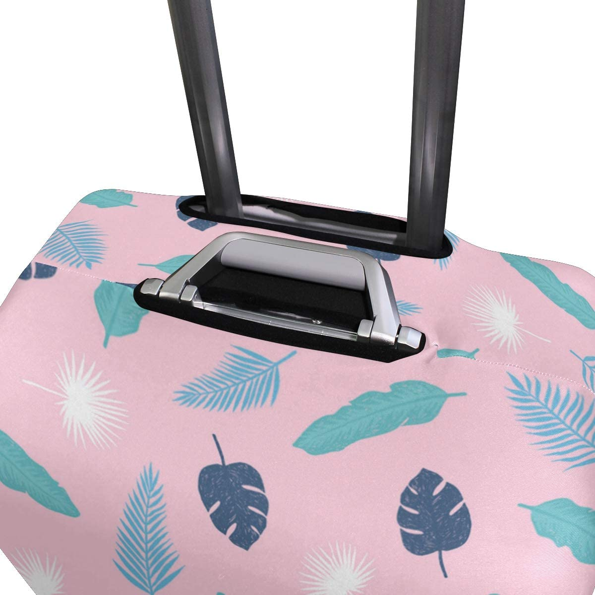 Pink Banana Leaf Traveler Lightweight Rotating Luggage Protector Case Can Carry With You Can Expand Travel Bag Trolley Rolling Luggage Protector Case