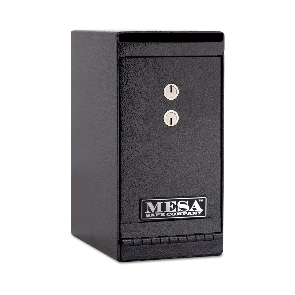 Mesa Safe Company Model MUC1K Undercounter Depository Safe with Dual Key Lock, Dark Gray