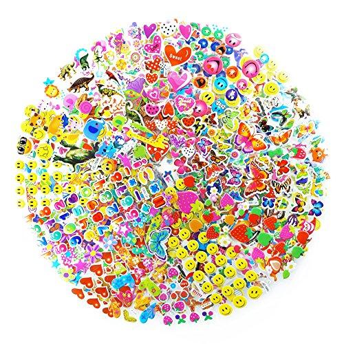 Isusser Kids Stickers 1300 Count 3d Stickers For Children Kids