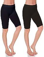 Emmalise Women's Capri 17 in Knee Length Seamless Legging-Regular and Plus Size