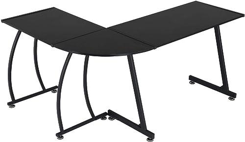 YAHEETECH L-Shape Computer Desk
