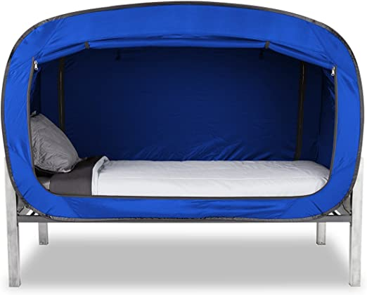 Privacy Pop Bed Tent (Twin) BLUE