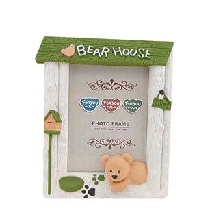 7 inch Plastic Children's Cartoon Creative Swing Sets Photo Frame GREEN Panda Superstore PS-BAB723033011-SUE00181