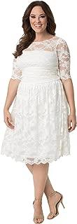 product image for Kiyonna Women's Plus Size Aurora Lace Wedding Dress