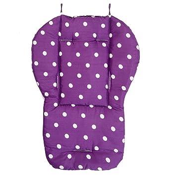 Jiyaru Baby Stroller Padding Seat Liner Infant Car Pushchair Cushion Mat Purple