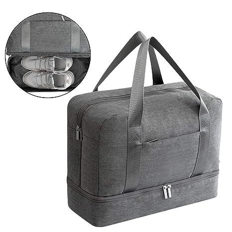 Amazon.com: Bolsa de deporte impermeable con compartimento ...