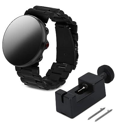 kwmobile Correa de Reloj para Polar Vantage M - Pulsera de Repuesto para Smartwatch de Acero Inoxidable - Banda de Reloj con Cierre Plegable