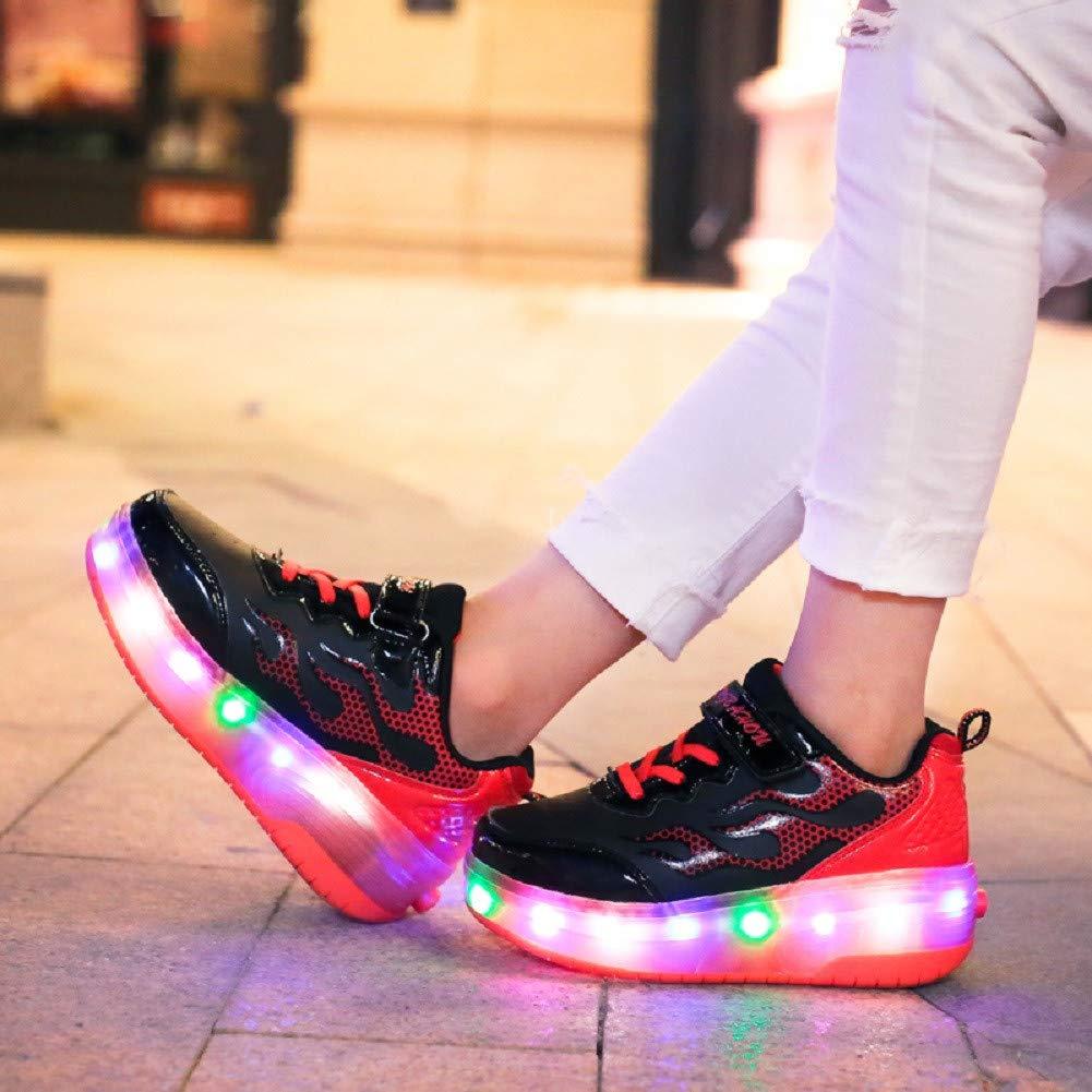 Led Luces Zapatos con Ruedas Dobles para Peque/ños Ni/ños y Ni/ña Autom/ática Calzado de Skateboarding Deportes de Exterior Patines en L/ínea Brillante Mutilsport Aire Libre y Deporte Gimnasia Zapatillas