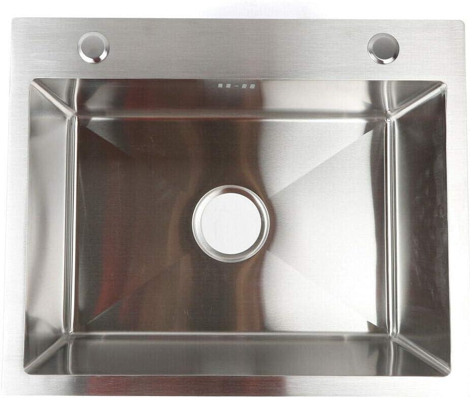 /Évier de cuisine en acier inoxydable avec finition naturelle