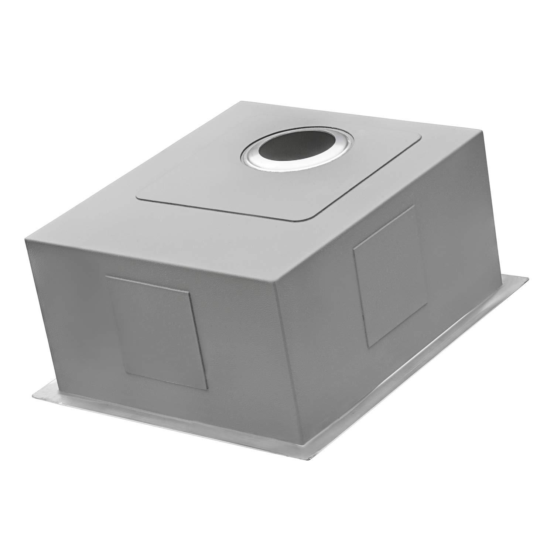Ruvati 14-inch Undermount Wet Bar Prep Sink Tight Radius 16 Gauge Stainless Steel Single Bowl - RVH7114 by Ruvati (Image #5)