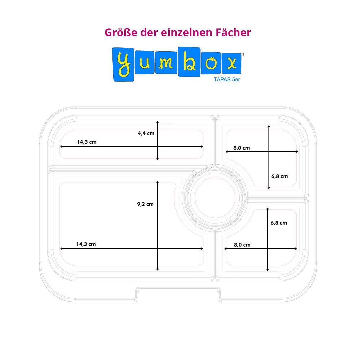 Brooklyn Green, 4er NYC Auslaufsicher getrennte F/ächer Unterteilte Brotdose Brotzeitbox mit Unterteilung Yumbox Tapas XL Lunchbox Bento Box f/ür Erwachsene