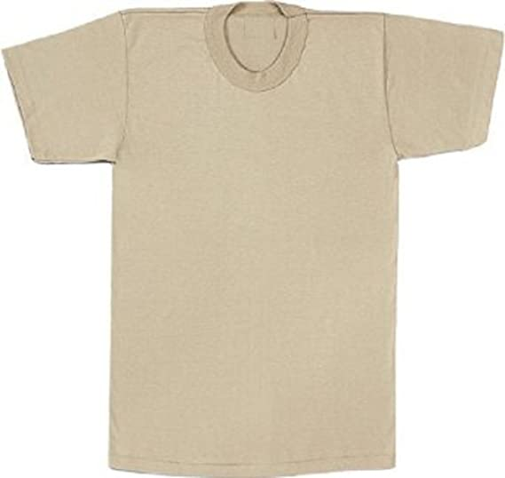 Amazon.com  8570 100% Cotton Desert Sand T-Shirt (Medium)  Military ... 74b90472ba3