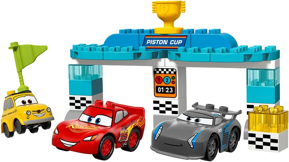 Amazon Com Lego Duplo Piston Cup Race 10857 Building Kit 31 Pieces Discontinued By Manufacturer Toys Games