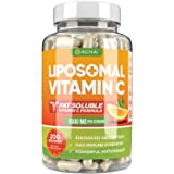 Natural Liposomal Vitamin C - Immune System & Collagen Booster, High Absorption Fat Soluble VIT C, Buffered, Anti Aging Skin