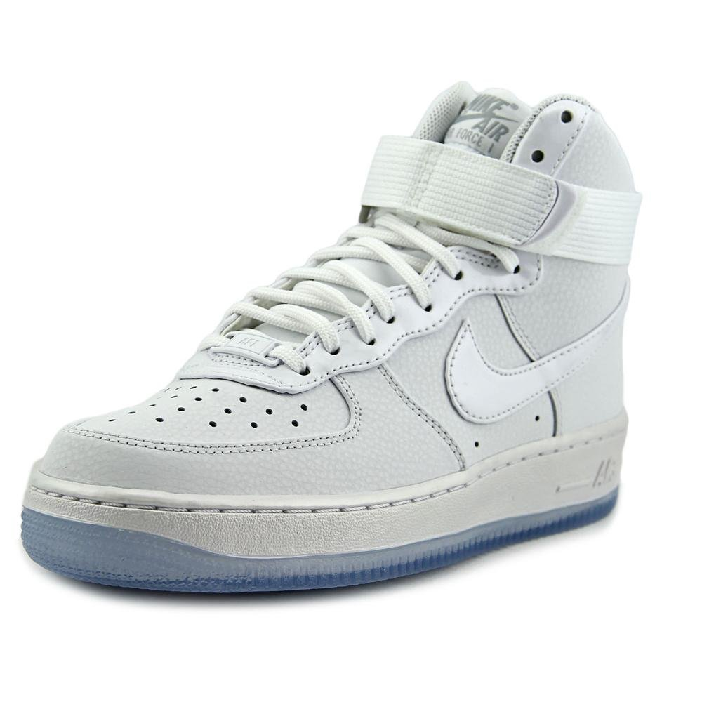 Nike Air Force 1 Hi Premium,WHITE/WHITE-MATTE SILVER-BLUE TINT,12 (D) M US by NIKE