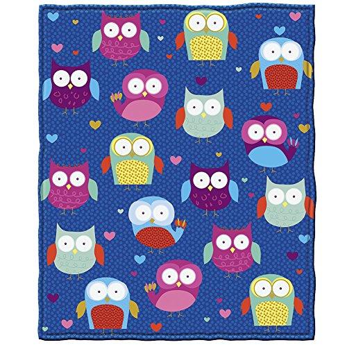 Owls Fleece Throw Blanket by Dawhud Direct ()