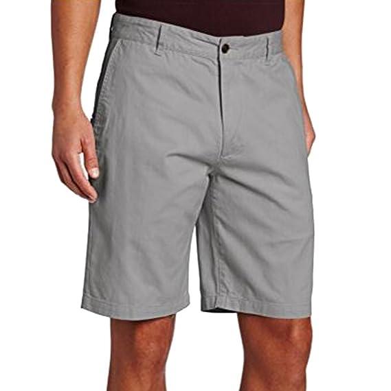 Ketamyy Hombre Color Puro Tipo Recto Rodilla De Longitud Pantalones Cortos Casual Shorts cu5cr1X